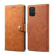 Lenuo Leather for Samsung Galaxy A51, brown - Mobile Phone Case