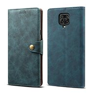 Lenuo Leather for Xiaomi Redmi Note 9 Pro/Note 9S, Blue - Mobile Phone Case