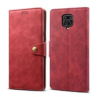 Lenuo Leather for Xiaomi Redmi Note 9 Pro/Note 9S, Red - Mobile Phone Case