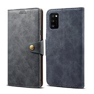 Lenuo Leather for Samsung Galaxy A41, Grey - Mobile Phone Case