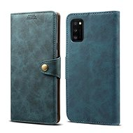 Lenuo Leather for Samsung Galaxy A41, Blue - Mobile Phone Case