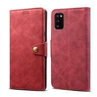 Lenuo Leather for Samsung Galaxy A41, Red - Mobile Phone Case