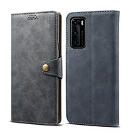 Lenuo Leather for Huawei P40, Grey - Mobile Phone Case