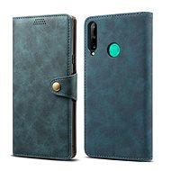 Lenuo Leather for Huawei P40 Lite E, Blue - Mobile Phone Case