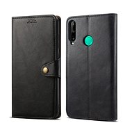 Lenuo Leather for Huawei P40 Lite E, Black - Mobile Phone Case