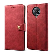 Lenuo Leather for Xiaomi Poco F2 Pro, Red - Mobile Phone Case