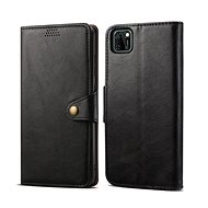 Mobile Phone Case Lenuo Leather for Huawei Y5p, Black - Pouzdro na mobil