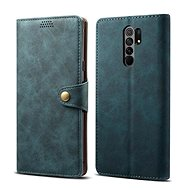 Lenuo Leather for Xiaomi Redmi 9, Blue - Mobile Phone Case
