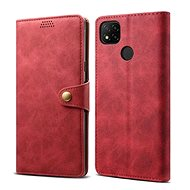 Lenuo Leather for Xiaomi Redmi 9C, Red - Mobile Phone Case