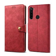 Lenuo Leather for Xiaomi Redmi Note 8, Red - Mobile Phone Case