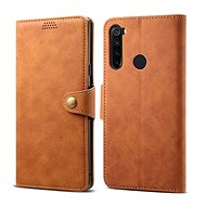 Lenuo Leather for Xiaomi Redmi Note 8, Brown - Mobile Phone Case