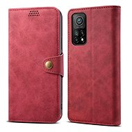 Lenuo Leather for Xiaomi Mi 10T/10T Pro, Red - Mobile Phone Case
