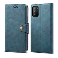 Lenuo Leather for Xiaomi Poco M3, Blue - Mobile Phone Case
