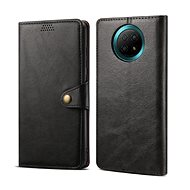 Lenuo Leather for Xiaomi Redmi Note 9T, Black - Mobile Phone Case