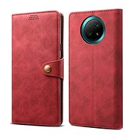 Lenuo Leather for Xiaomi Redmi Note 9T, Red - Mobile Phone Case