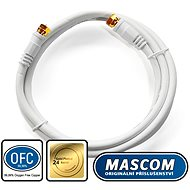 Mascom Coaxial Cable 7676-015W, Connectors F 1.5m