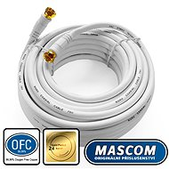 Mascom Coaxial Cable 7676-100W, Connectors F 10m