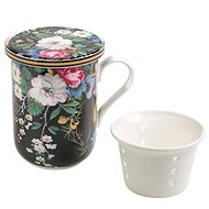 Maxwell & Williams Mug with Porc. Sieve 300ml William Kilburn Midnight Blossom - Mug