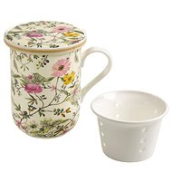 Maxwell & Williams Mug with Porc. Sieve, 300ml, William Kilburn Summer Blossom - Mug
