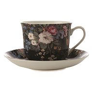 Maxwell & Williams Cup with Saucer, 480ml, William Kilburn Midnight Blossom - Coffee Cups