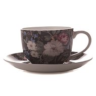 Maxwell & Williams Cup with Saucer, 250ml, William Kilburn Midnight Blossom - Coffee Cups