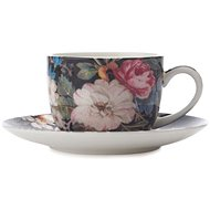 Maxwell & Williams Cup with Saucer, 100ml, William Kilburn Midnight Blossom - Coffee Cups