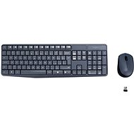 Logitech Wireless Combo MK235 CZ grey - Mouse/Keyboard Set