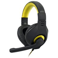 C-TECH NEMESIS V2 GHS-14 (black-yellow) - Headphones with Mic