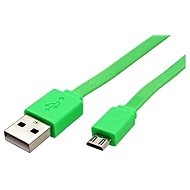 ROLINE USB 2.0 - USB A (M) -micro USB B (M), 1m, flat, green - Data cable