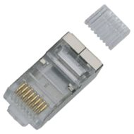 100-pack, Datacom, RJ45, CAT6, STP, 8p8c, Shielded, On Wire - Connector