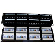 Datacom, 48x RJ45, direct, CAT5E, UTP, black, 2U, LSA - Patch Panel