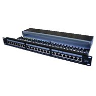 Datacom, 24x RJ45, upright, CAT6, STP, black, 1U - Patch Panel