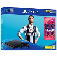 PlayStation 4 - 500GB Slim + FIFA 19 - Game Console