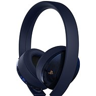 Sony PS4 Gold/Navy Blue Wireless Headset - 500M Limited Edition - Gaming Headset