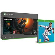 Xbox One X + Shadow of the Tomb Raider + FIFA 19 - Game Console