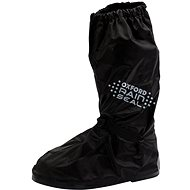OXFORD RAINSEAL over-boots with reflective panels and non-slip sole (black, size S) - Accessories