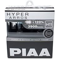 PIAA Hyper Arros 3900K H11 - 120% higher luminosity, increased brightness - Car Bulb