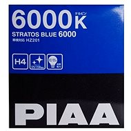 PIAA Stratos Blue 6000K H4 Automotive Light Bulb - Cold White Light with Xenon Effect - Car Bulb