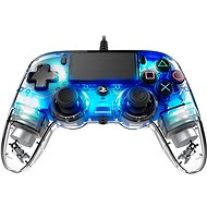 Nacon Wired Compact Controller PS4 - Transparent Blue - Gamepad