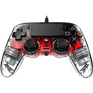 Nacon Wired Compact Controller PS4 - Transparent Red - Gamepad