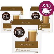 Nescafé Dolce Gusto Café Au Lait Pack of 3 (Total 90 Capsules, 45 Servings)