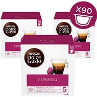Nescafé Dolce Gusto Espresso Pack of 3 (Total 90 Capsules, 45 Servings)