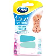 SCHOLL Velvet Smooth Nail Care replacement pink 3pcs - Replacement Head