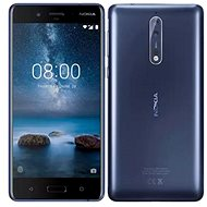 Nokia 8 Single SIM Polished Blue - Mobile Phone