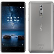 Nokia 8 Single SIM Steel - Mobile Phone