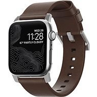 Nomad Leather Strap Modern Brown Silver Watch Apple Watch 40/38mm - Watch band