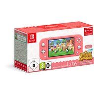 Nintendo Switch Lite - Coral + Animal Crossing + 3M NSO - Game Console
