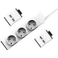 Allocacoc PowerStrip Modular Switch Set 1.5m + 2x USB Module - Socket