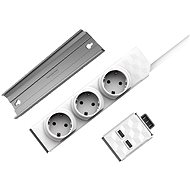 PowerStrip Modular Switch 1.5m + USB Module + PowerStrip Rail - Socket