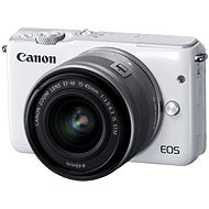 Canon EOS M10 White + EF-M 15-45mm F3.5 - 6.3 IS STM - Digital Camera